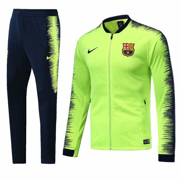 buy popular 8d537 f0b78 1819 Barcelona Fluorescent green Training Jacket Kit : Cheap ...