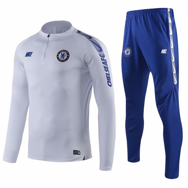 the latest 3e69d 7a91f 19- 20 Chelsea White Tracksuit : Cheap Soccer Jerseys Shop ...