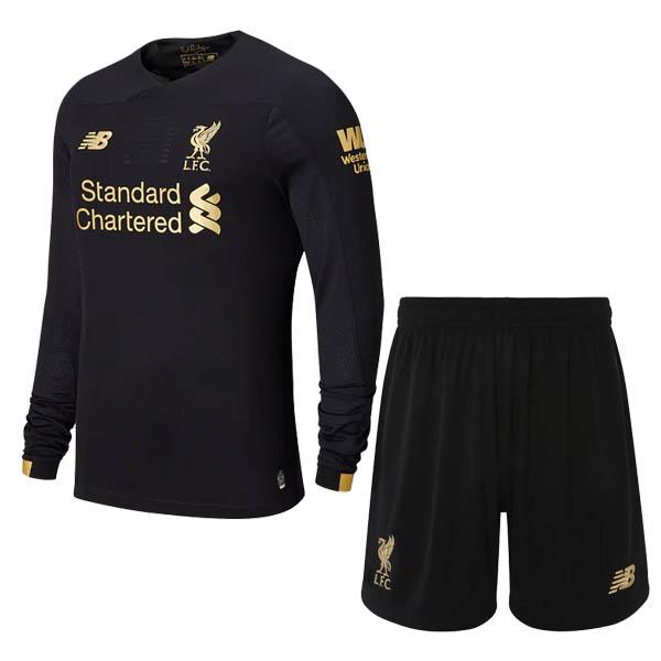 promo code 8af31 ae1ee 19-20 Liverpool Black Long Sleeve Goalkeeper Jersey Kit ...