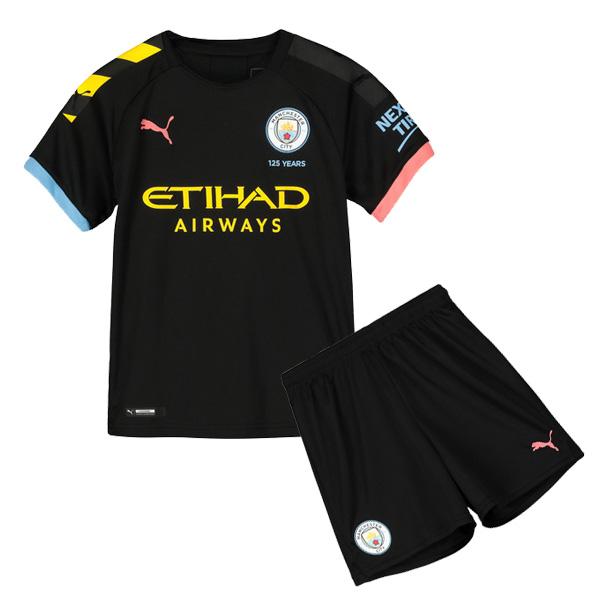 superior quality af99d 2375e 19-20 Manchester City Away Black Jersey Kids Kit : Cheap ...