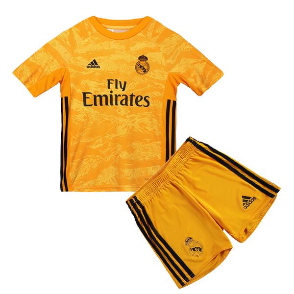 timeless design fd0c6 828b8 19-20 Real Madrid Home Goalkeeper Yellow Jersey Kids Kit ...